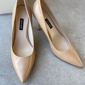 Nine West Flax Pointed Toe Pump, Natural Shade 7.5